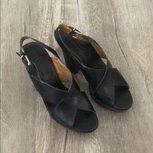 Never worn - Banana Republic Black Leather heels